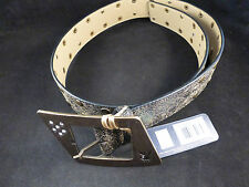 Playboy Super Stylish Black / Gold Rivieted Belt with Large Ornate Buckle