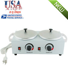 Double Pot Wax Warmer Heater Electric Professional Dual Pro Salon Hot Paraffin