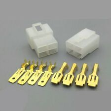 10Kits 6.3mm Car Connector 4P Male Female Electrical Plug Socket for Motorcycle