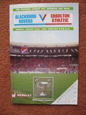 1987 FULL MEMBERS CUP FINAL: BLACKBURN ROVERS v CHARLTON ATHLETIC @ Wembley