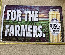 Busch Light Flag FREE SHIPPING For the Famers Dilly Bud Light Poster Banner