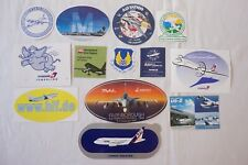 More details for vintage airline aviation plane publicity stickers luggage labels x13