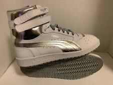 PUMA SKY BASKET CLASSIC High Top Men's LIFESTYLE Sneakers White & SILVER