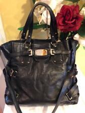 Michael Kors Gansevoort black leather bag purse (220