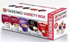 TASSIMO T Discs Pods Coffee Latte Cappuccino Americano Cadbury Variety Box 56 ☕☕