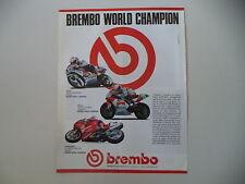 advertising Pubblicità 1990 BREMBO e RAYMOND ROCHE DUCATI 851/ JOHN KOCINSKY