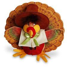 "PILGRIM TURKEY Thanksgiving Decor 7"" Shatterproof FESTIVE! Annalee Dolls 2016"