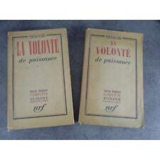 Nietzsche La volonté de puissance 1937 NRF bel exemplaire broché