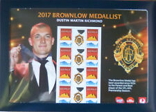 AUSTRALIA 2017 DUSTIN MARTIN RICHMOND AFL BROWNLOW MEDALLIST Souvenir Sheetlet