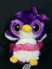 "YooHoo & Friends PENGUIN Purple Pink Tutu - Small 6"" Stuffed Plush Aurora"