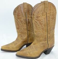 Laredo Womens Sz 7.5 High Heel Leather Western Cowboy Riding Work Boots