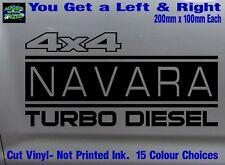 NAVARA stickers accessories Ute Car MX Funny decal 4x4 TURBO DIESEL 200mm PAIR