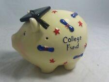 Pig Piggy Bank College Fund Savings Ceramic