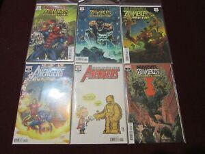 Avengers Comic Lot of 24 NM+ 9.4 1st Print!!!! *** Marvel Zombie Variants****