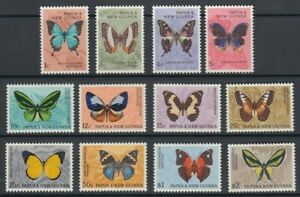 PAPUA NEW GUINEA PNG 1966 BUTTERFLIES MINT SET LHM (x12) (ID:231/D60058)