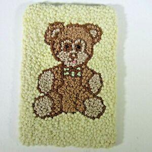 Vintage french knot rug TEDDY BEAR miniature dollhouse 1:12 artistan hooked