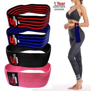 SAWANS® Resistance Bands Booty Fabric Ladies Men HIP CIRCLE Glute Leg Squat yoga