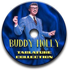 BUDDY HOLLY ROCK N ROLL GUITAR TAB TABLATURE SONG BOOK SOFTWARE CD
