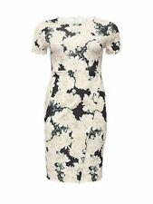 Just Joan Floral Print Women's Dress Over Split UK Size 16 Multi colour *7