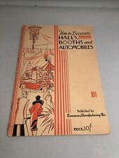 Vintage 1927 Dennison How to decorate Halls Booth & Automobiles & Doll Carriages