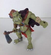 "2002 Papo Fantasy Figure Green Troll Ogre w/ Axe Orc Tolkien D&D 3.75"""