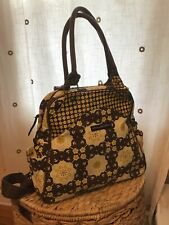 Petunia Pickle Bottom Yellow and Brown floral Sashay Satchel backpack diaper bag
