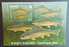 Jersey 2010 MS1544. Minisheet MNH---- Fish, Brown Trout.
