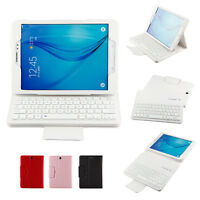 Bluetooth Keyboard Case Buckle Folio PU Leather Cover Stand For Samsung Galaxy
