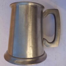 Tankard Stein Mug English Pewter  Glass Bottom
