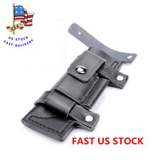 """Knives' Sheath Straight Leather Belt For 6"""" Fixed Knife W/Pouch Knives Sheath US"""