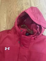 UNDER ARMOUR Storm ColdGear Infrared Hooded Jacket. Gorgeous. Red. Small. NWT