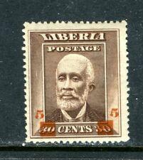 LIBERIA 139, 1915-16, 5c ON 30c BARCLAY, MINT, OG, LH, HR  (LIB045)