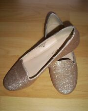Nine West - Slipper Ballerina Gold 37 UK 6 mit Originalkarton Top Zustand