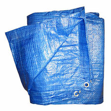 5m x 5m Blue Heavy Duty Tarpaulin Lightweight Waterproof Ground Sheet Cover