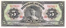 Mexico  5 Pesos  24.4.1963  Series AIR  Prefix S  Uncirculated Banknote