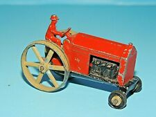 Vintage Early Die-Cast Metal Farm Machinery Tractor with Driver, Unmarked