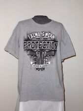 "TACTICAL TEES ""ALWAYS WEAR PROTECTION, LOCKED AND LOADED"" T-SHIRT 2XL-XXL  NWOT"