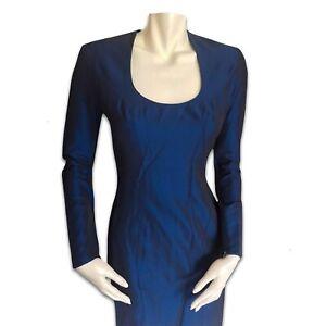 THIERRY MUGLER 90s Night blue dress