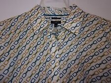 NEW NWT TALBOTS PETITE SZ 14P BLOUSE SHIRT WRINKLE RESISTANT GOLD BLUE STIRRUP