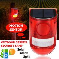 Alarme solaire LED Lampe Capteur de mouvement Extérieur Jardin Sécurité Sans fil
