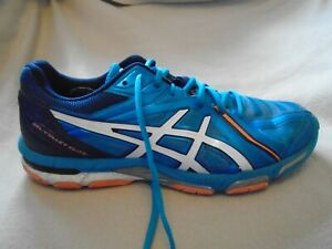 ASICS GEL VOLLEY ELITE TRAINERS BLUE VOLLEYBALL SIZE 9 UK 44 EURO E17