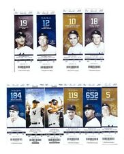 10- 2014-2013 DEREK JETER NY YANKEE UNUSED TICKETS FINAL OPENING DAY & LAST GAME