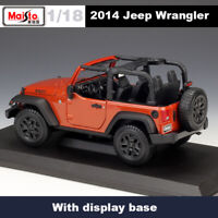 Maisto 1:18 Jeep Wrangler Convertible Off-road Military Diecast Car Model Toys