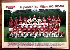 FOOTBALL CALCIO POSTER MILAN AC 1992 - 1993 GULLIT VAN BASTEN MALDINI DE NAPOLI