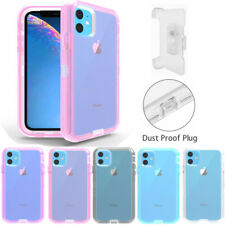 For iPhone 11 Pro 7 8 XR SE 2020 Case w Kickstand Clear Cover Holster Belt Clip