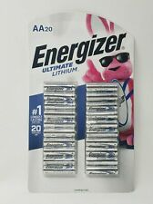 Energizer Ultimate Lithium AA Battery 20 Count PACK SIZE L91 BRAND NEW DOUBLE A