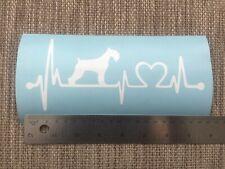 1 x (19cm x 8.2cm) Schnauzer Heartbeat Vinyl Decal Sticker Car Miniature Giant