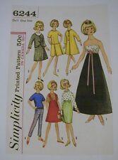 Copy Of Vintage Simplicity #6244 Pattern For Tammy, Jan, Misty Dolls - Reduced!