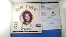 Dr. Dre Signed The Chronic Album Cover BAS COA LOA Autograph Beckett N.W.A