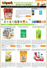 Organic Products Store - Amazon, eBay , Commission Junction Affiliate Website